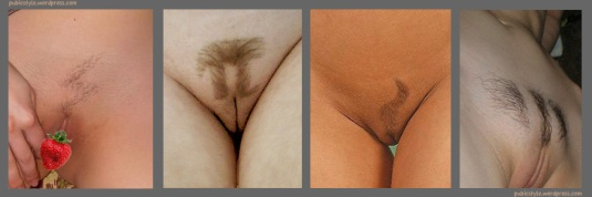 Quirky pubic hair styles